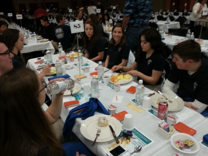 YC students at the Prayer Breakfast
